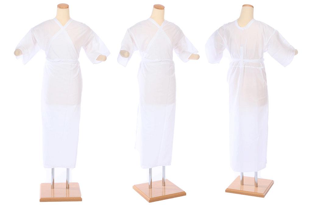 白いワンピースタイプの着物用肌着