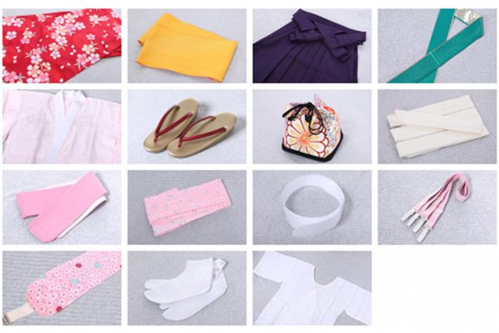 袴の着付けに必要なもの小物
